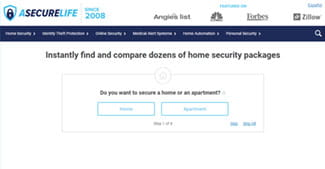 home security package selector