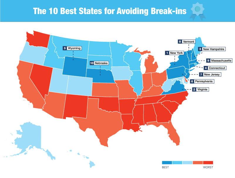 US Burglary Map