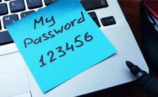 password sticky note