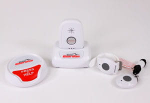 Medical Guardian medical alert equipment including gps, pendant, and bracelet
