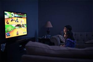 Playing Nintendo Wii
