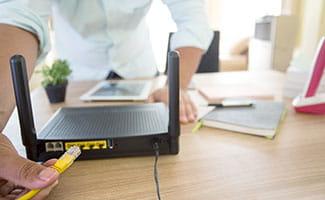 plugging in wifi modem