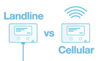 cellular vs landline security monitoring