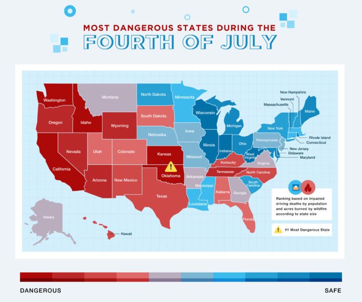 Ranking The Safest And Most Dangerous States On The Fourth