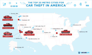 The Top 20 Metro Cities for Car Theft in 2018