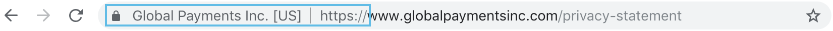 Example of a Secure URL: HTTPS