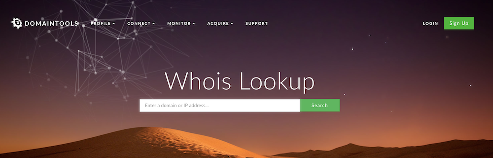 Whois Domain Lookup Website