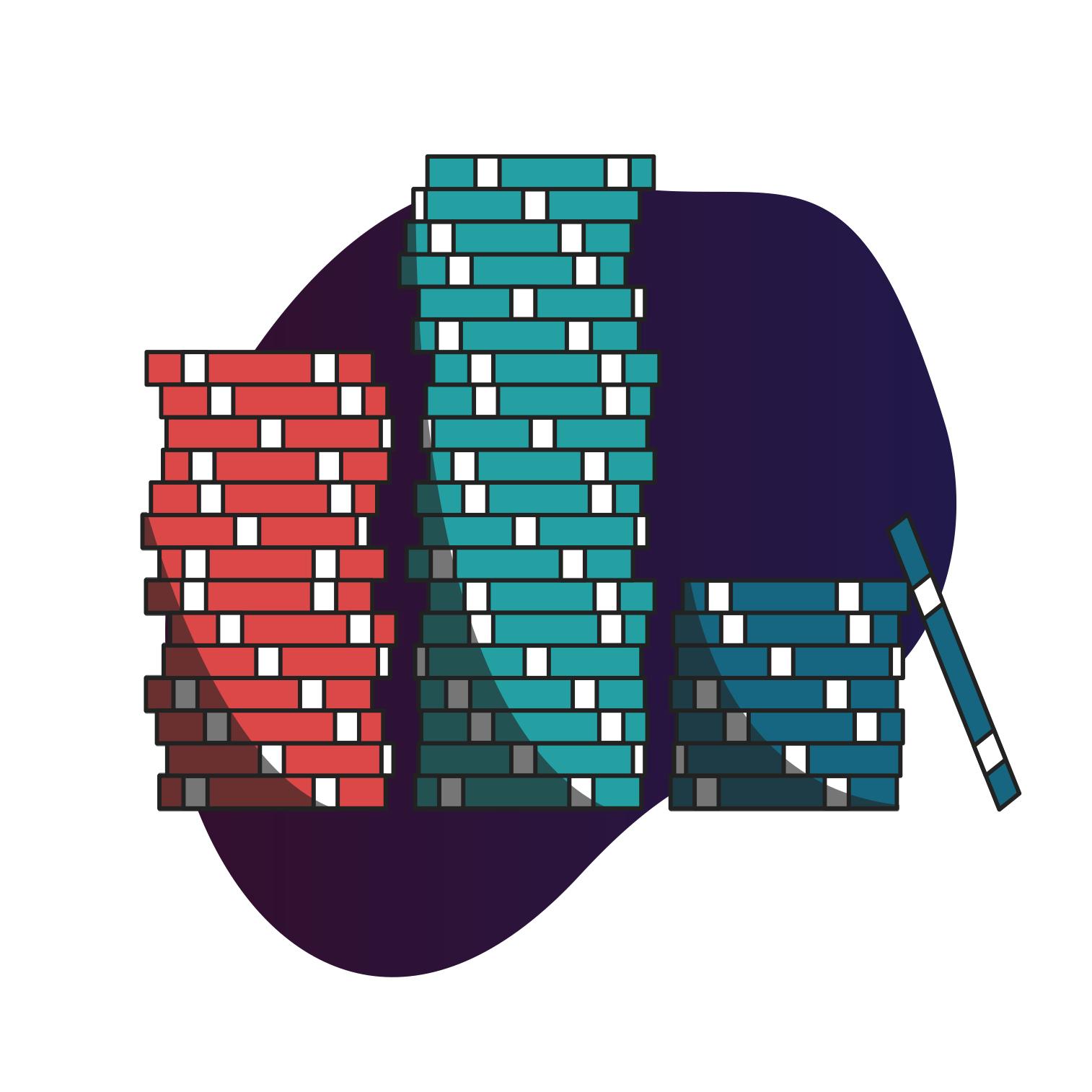 Casino chips graphic