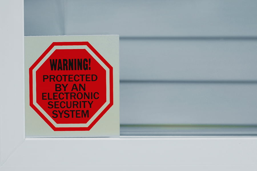 Do Fake Security Signs Work?