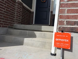 armorax sign outside house