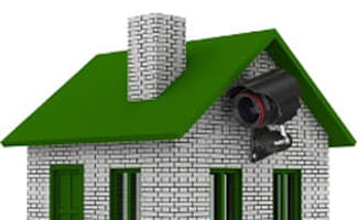 House with security camera outside