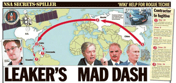Tracking the whereabouts of NSA Whisleblower