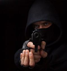 Masked Burglar With Gun