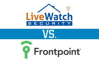 livewatch vs frontpoint compare top home security cos