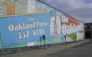 Oakland Press wall in Oakland, CA