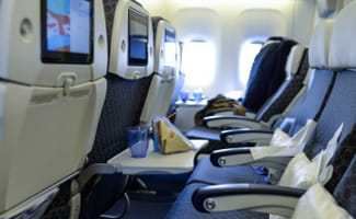 Row of airline seats