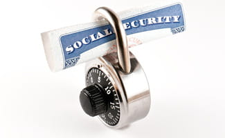 Social security card with lock