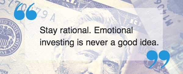 Stay rational about investing quote